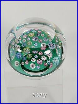 Whitefriars Millefiori Cane Paperweight, Dated 1971 With Lens Cut Top and Sides