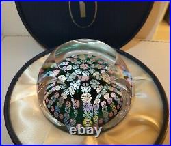 Whitefriars Paperweight Very Scarce Millefiori Large Muti-Coloured Glass & Box