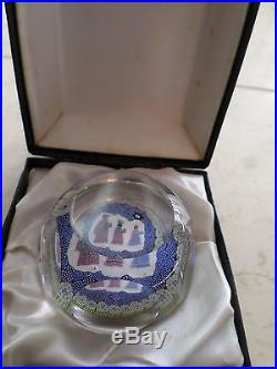 Whitefriars paperweight Christmas 1976 three wise men with boxitefriars no. 14