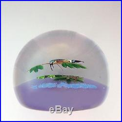 William Manson Caithness Glass LE Kingfisher paperweight 1984 / presse papiers