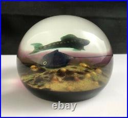 William Manson Scotland Art Glass STINGRAY Paperweight 1980 90/100