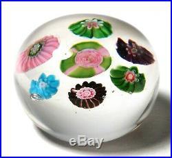 Wonderful Antique Clichy Miniature Concentric Millefiori Paperweight