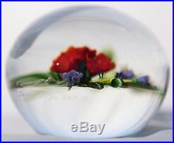 Wonderful CHRIS BUZZINI Botanical BOUQUET Art Glass PAPERWEIGHT