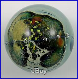 Wonderful Signed Josh Simpson Planet Paperweight