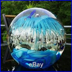 XXL sehr grosser seltener Aquarium Paperweight Murano Glass Venezia ca. 6 kg